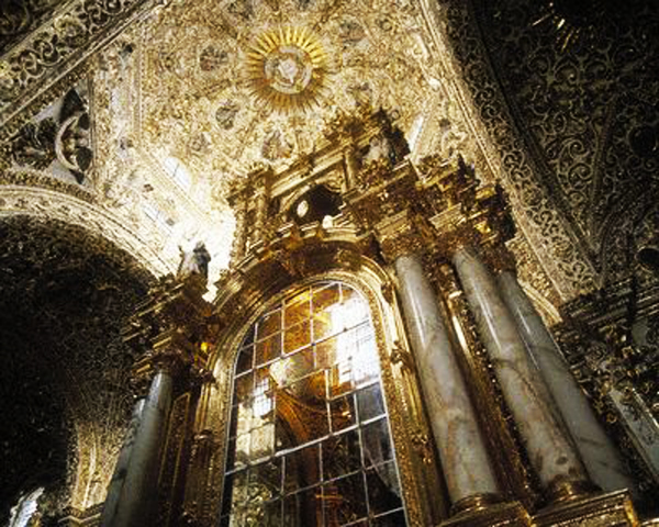 Rosary Chapel and Ceiling, Church of Santo Domingo, Puebla, Mexico