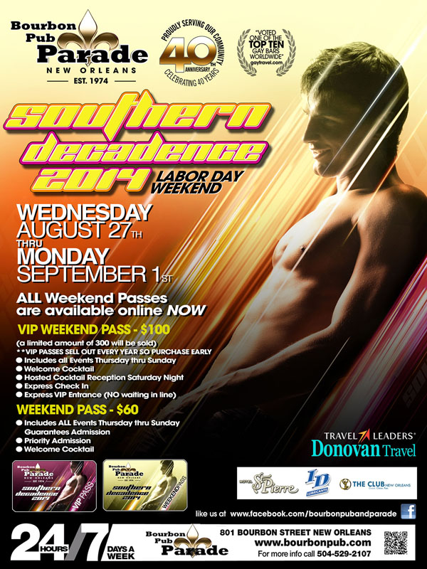 southern decadence deals