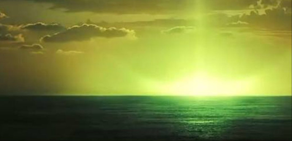 green flash sunset