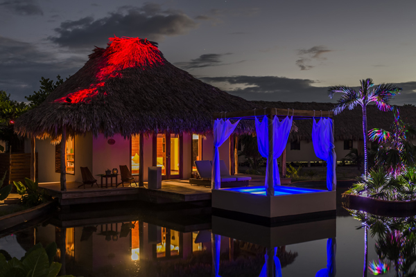 gay belize Lake Villa night